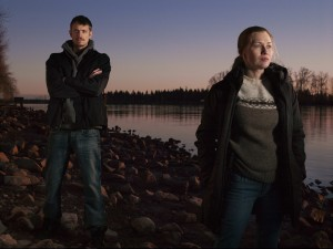 "Mireille Enos and Joel Kinnaman in ""The Killing"" -- Photo courtesy of AMC"