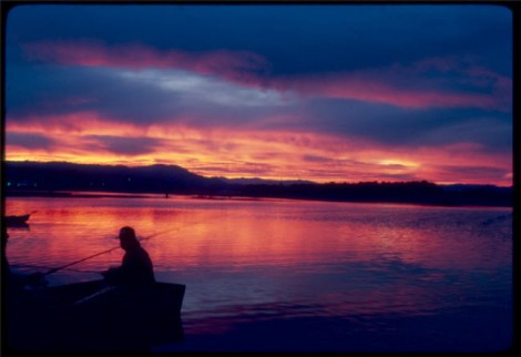 Sunset on the lower Eel River — Photo courtesy of Hal Janssen