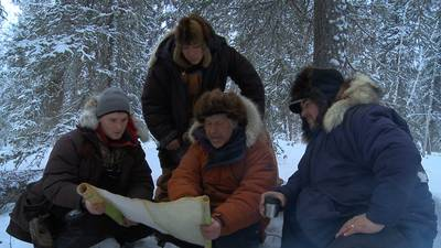 The men of the community get ready for a caribou hunt — Photo courtesy of Discovery Channel
