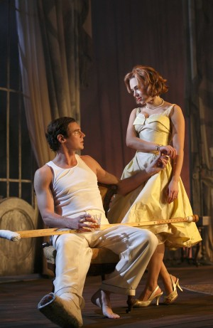 Benjamin Walker and Scarlett Johansson in Tennessee Williams' 'Cat on a Hot Tin Roof' — Photo courtesy of Joan Marcus