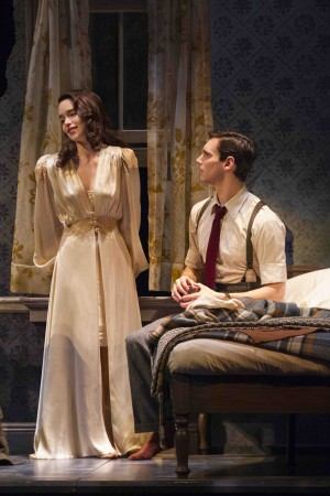 Emilia Clarke and Cory Michael Smith in 'Breakfast at Tiffany's' at the Cort Theatre — Photo courtesy of Nathan Johnson
