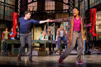 Stark Sands and Billy Porter in 'Kinky Boots,' the new musical on Broadway — Photo courtesy of Matthew Murphy