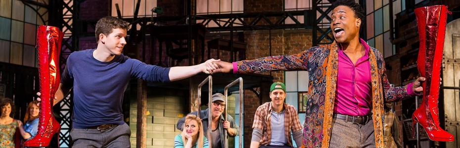 Stark Sands and Billy Porter in &#039;Kinky Boots,&#039; the new musical on Broadway — Photo courtesy of Matthew Murphy