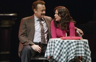 Tom Hanks and Maura Tierney in 'Lucky Guy' on Broadway — Photo courtesy of Joan Marcus