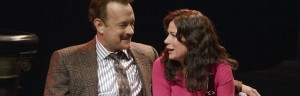 Tom Hanks and Maura Tierney in &#039;Lucky Guy&#039; on Broadway Photo courtesy of Joan Marcus
