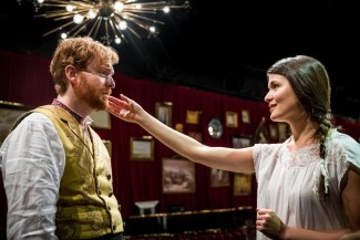David Abeles and Phillipa Soo in 'The Great Comet' at Kazino — Photo courtesy of Chad Batka