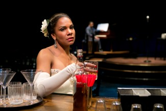 Audra McDonald and Shelton Becton star in 'Lady Day at Emerson's Bar & Grill', currently playing at Circle in the Square on Broadway —Photo courtesy of Evgenia Eliseeva