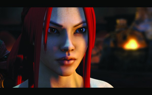 A scene featuring Nariko from 'Heavenly Sword,' out on DVD Sept. 2 — Photo courtesy of Bender Helper Impact
