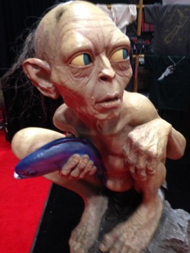 Gollum at the WETA booth, New York Comic Con 2014 — Photo by John Soltes