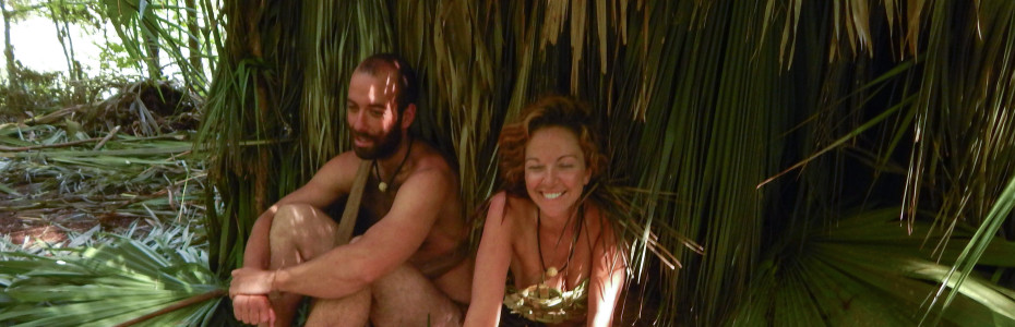 Amber Hargrove and Ryan Holt survive in the Everglades on Naked and Afraid — Photo courtesy of Discovery Channel