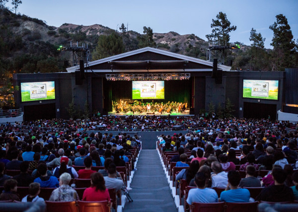 Pokémon: Symphonic Evolutions has played several venues, including this outside theater in Los Angeles. Photo courtesy of Princeton Entertainment.