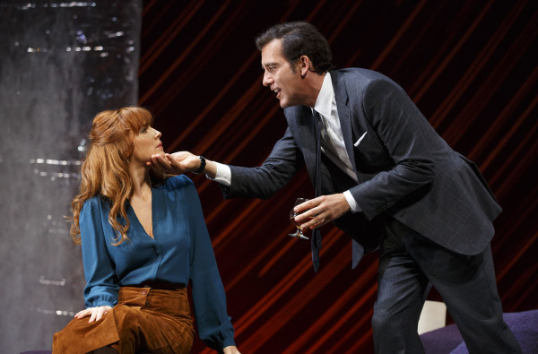 Kelly Reilly and Clive Owen star in Old Times. Photo courtesy of Joan Marcus.