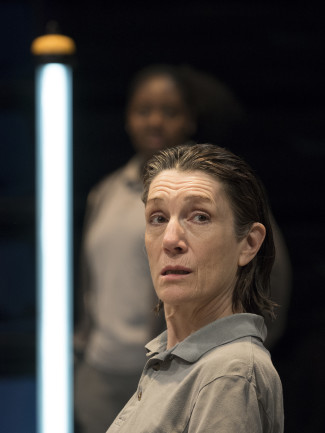 Harriet Walter plays King Henry in Henry IV. Photo courtesy of Pavel Antonov.