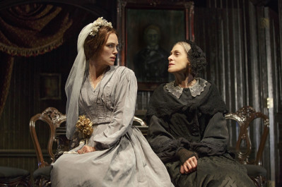 From left, Keira Knightley and Judith Light star in Roundabout Theatre Company's new production of Thérèse Paquin. Photo courtesy of Joan Marcus.