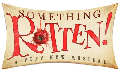 Something Rotten! is currently playing the St. James Theatre on Broaday. Logo courtesy of Boneau Bryan-Brown.