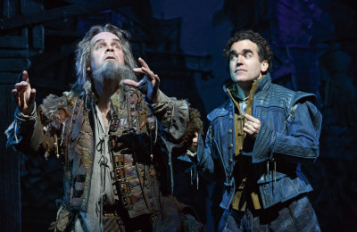 From left, Brad Oscar and Brian d'Arcy James star in Something Rotten!, currently playing the St. James Theatre on Broadway. Photo courtesy of Joan Marcus.