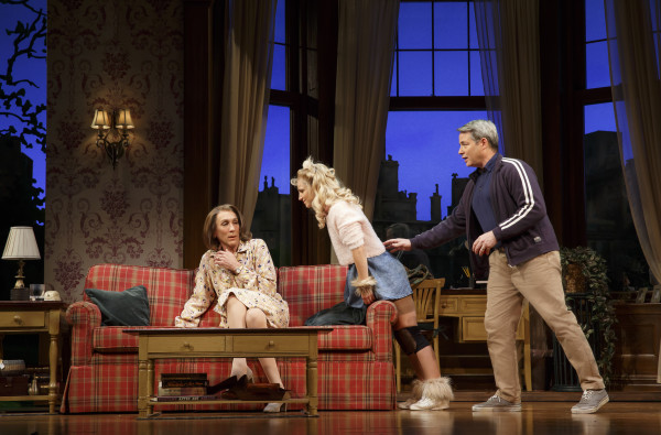 Sylvia features, from left, Robert Sella, Annaleigh Ashford and Matthew Broderick. Catch the comedy on Broadway through Jan. 3. Photo courtesy of Joan Marcus.