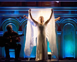 Soledad Barrio stars in Noche Flamenca's interpretation of Antigona. Martín Santangelo adapted and directed the performance. Photo courtesy of Zarmik Moqtaderi.
