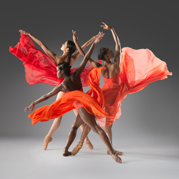 Dance Theatre of Harlem includes artists Emiko Flanagan, Ingrid Silva and Jenelle Figgins. Photo courtesy of Rachel Neville.