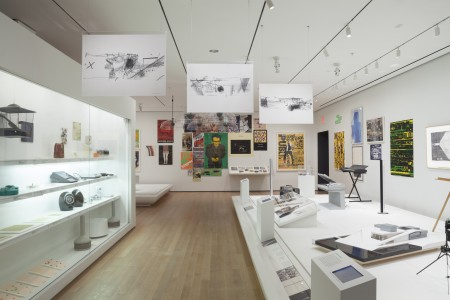 Installation view of Making Music Modern: Design for Ear and Eye, The Museum of Modern Art, November 15, 2014–November 15, 2015. © 2014 The Museum of Modern Art. Photo: John Wronn