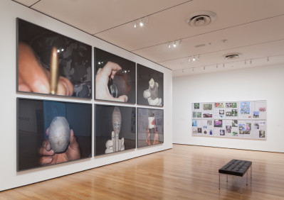 Installation view of Walid Raad, The Museum of Modern Art, October 12, 2015-January 31, 2016. © 2015 The Museum of Modern Art, New York. Photo: Thomas Griesel