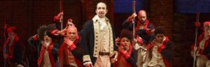 The cast of Hamilton is led by Lin-Manuel Miranda, who also wrote the book, music and lyrics. Photo courtesy of Joan Marcus.