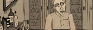 John Brinkley has an idea in the new documentary Nuts! Animation Still. Artist: Drew Christie. Courtesy of Cartuna.