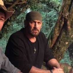 EJ Snyder and Jeff Zausch sit next to a fire they built on the new season of Dual Survival. Photo courtesy of Discovery Channel.