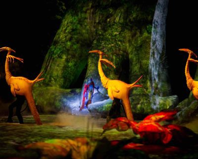Puppeteers bring to life the flora and fauna in Toruk: The First Flight. Photo courtesy of Errisson Lawrence / c 2015 Cirque du Soleil.