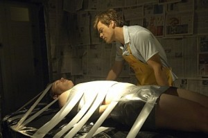 Shawn Hatosy and Michael C. Hall in 'Dexter' -- Photo courtesy of Randy Tepper / Showtime