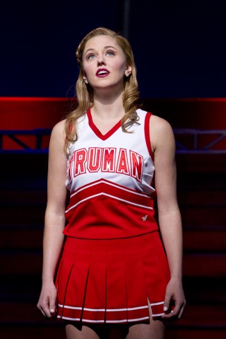 Taylor Louderman and Campbell in 'Bring it On: The Musical' — Photo courtesy of Joan Marcus