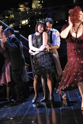 Michelle Ryan as Sally Bowles and Matt Rawle as Cliff in 'Cabaret' — Photo courtesy of Keith Patios