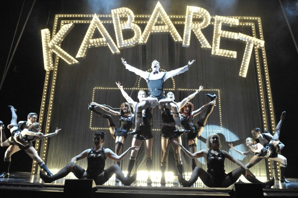 Will Young as the Emcee and the company in 'Cabaret' — Photo courtesy of Keith Pattison