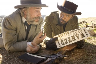 Christoph Waltz and Jamie Foxx in 'Django Unchained' — Photo courtesy of The Weinstein Company