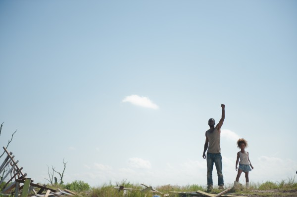 Dwight Henry and Quvenzhané Wallis in 'Beasts of the Southern Wild,' a story about a community in the Louisiana bayou — Photo courtesy of Jess Pinkham