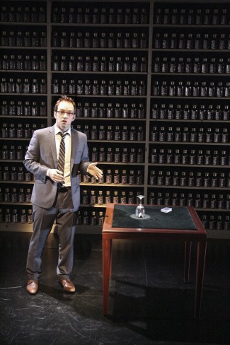 Helder Guimarãres in 'Nothing to Hide' at the Geffen Playhouse — Photo courtesy of Michael Lamont