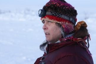 "Sue Aikens in the northern reaches of Alaska — Photo courtesy of 2012 BBC Worldwide Ltd. ""All Rights Reserved"""
