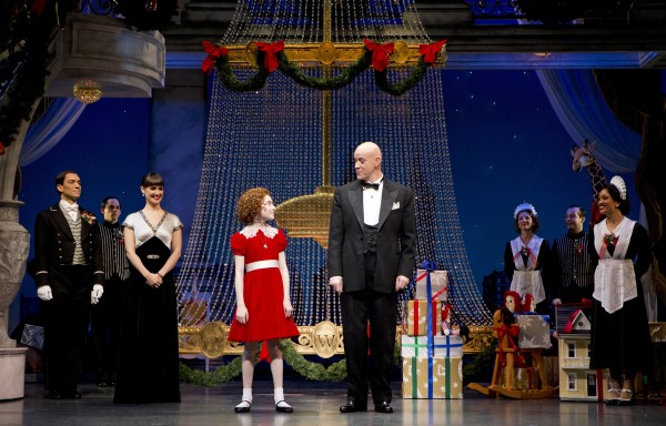 The cast of 'Annie,' including Anthony Warlow as Daddy Warbucks — Photo courtesy of Joan Marcus