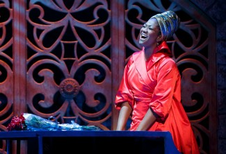 Amber Iman as Nina Simone in 'Soul Doctor' — Photo courtesy of Carol Rosegg