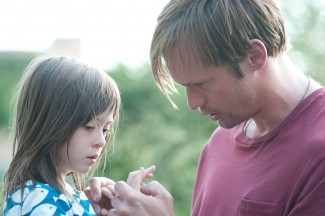 Onata Aprile and Alexander Skarsgård in 'What Maisie Knew' — Photo courtesy of JoJo Whilden