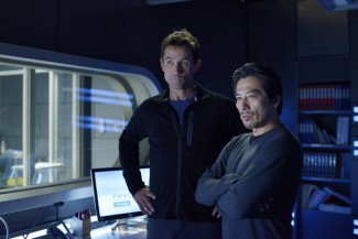 Bruce Campbell and Hiroyuki Sanada star in 'Helix' — Photo courtesy of Philippe Bosse / Syfy