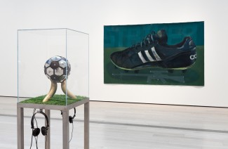 Installation View Fútbol: The Beautiful Game February 2 - July 20, 2014 Los Angeles County Museum of Art Photo - 2014 Museum Associates / LACMA