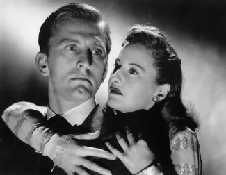 Kirk Douglas and Barbara Stanwyck in Lewis Milestone's 'The Strange Love of Martha Ivers' — Photo courtesy of Photofest via Film Forum