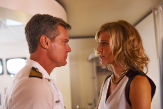 Brian Van Holt as Captain William Denninger, Tricia Helfer as Viondra Denninger in Syfy's 'Ascension' — Photo courtesy of Jan Thijs/Syfy