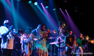 Rebirth Brass Band still plays Tuesday nights at the Maple Leaf in New Orleans — Photo courtesy of John Margaretten