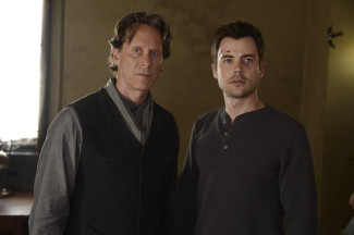 Helix stars, from left, Steven Weber and Matt Long — Photo courtesy of Philippe Bosse / Syfy