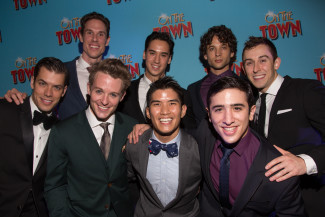 The ensemble of On the Town includes Michael Rosen, second from left in the back row — Photo courtesy of Matt Ross Public Relations