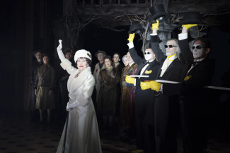 The Visit stars Chita Rivera as a wealthy woman who returns to her hometown — Photo courtesy of Thom Kaine