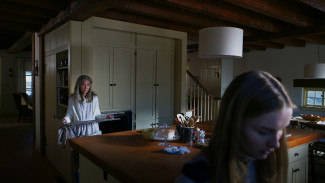 From left, Deanna Dunagan and Olivia DeJonge star in M. Night Shyamalan's The Visit. Photo courtesy of Universal Pictures.