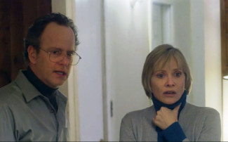 Andrew Sensenig and Barbara Crampton star in We Are Still Here. Photo courtesy of film.